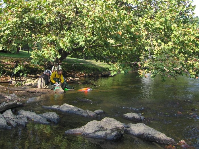 Fishing on Tuckasegee River