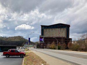 Harrah's Casino and Street in Cherokee NC